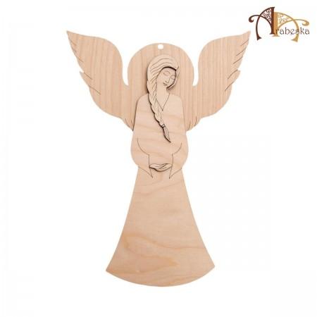Anioł ze sklejki – wzór 1