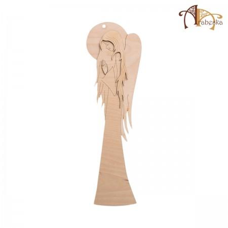 Anioł ze sklejki – wzór 3, wys. 40 cm