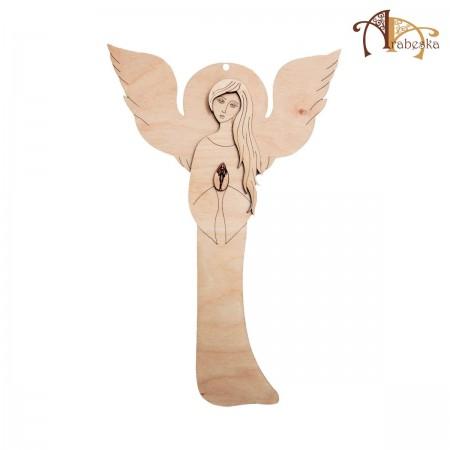 Anioł ze sklejki – wzór 2, wys. 40 cm