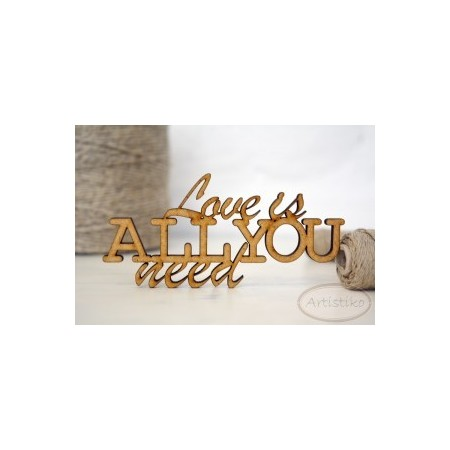 Love is all you need - napis