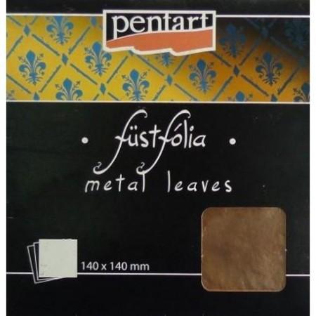 Folia miedź Pentart 14x14 cm 5 arkuszy