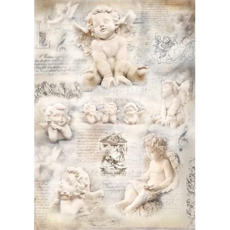 Papier jedwabny - Anioły