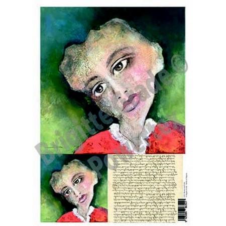 Wydruk laserowy A3 - kobieta z brązowymi oczami
