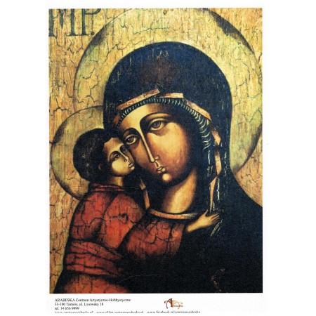 Papier ryżowy Arabeska – Ikona Matki Boskiej z Dzieciątkiem, wzór 1, format A4