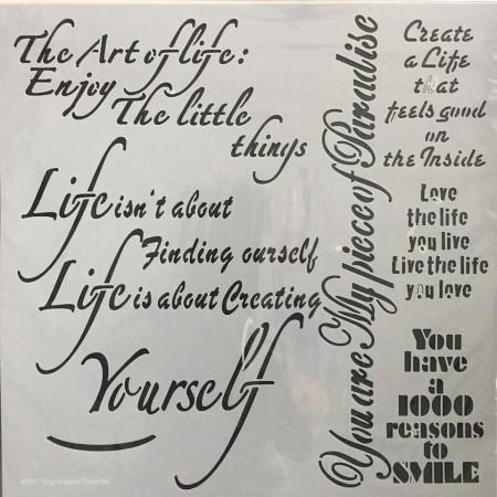 Szablon - sztuka życia 30x30 cm