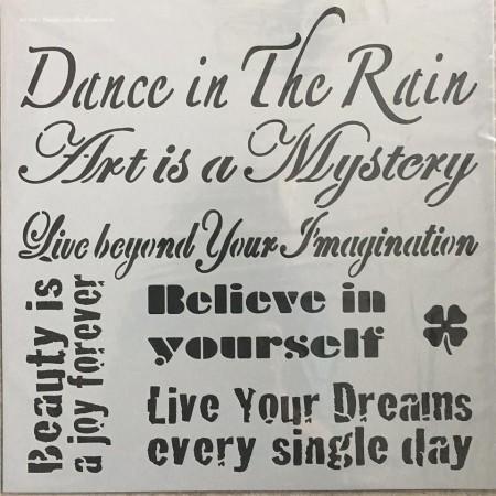 Szablon - tańczyć w deszczu 30x30 cm
